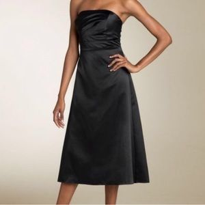 JS Boutique Ruched Satin Black Dress